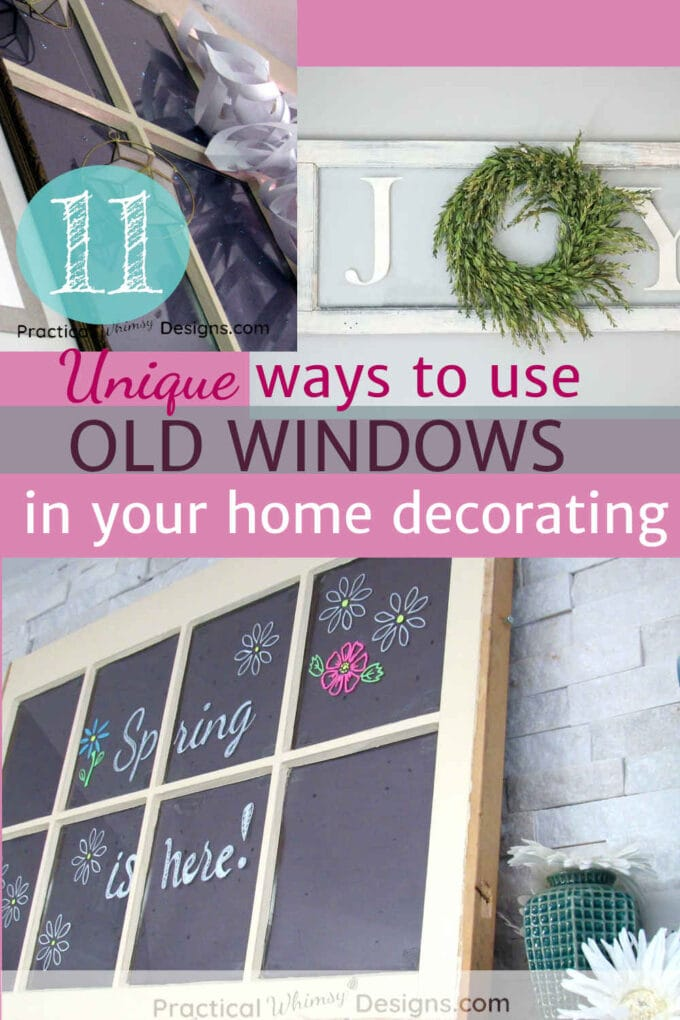 11 ways to use old windows in your home decorating
