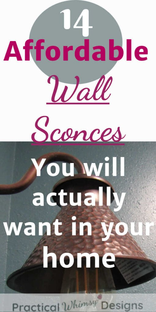 Affordable wall sconces you will actually want in your home.