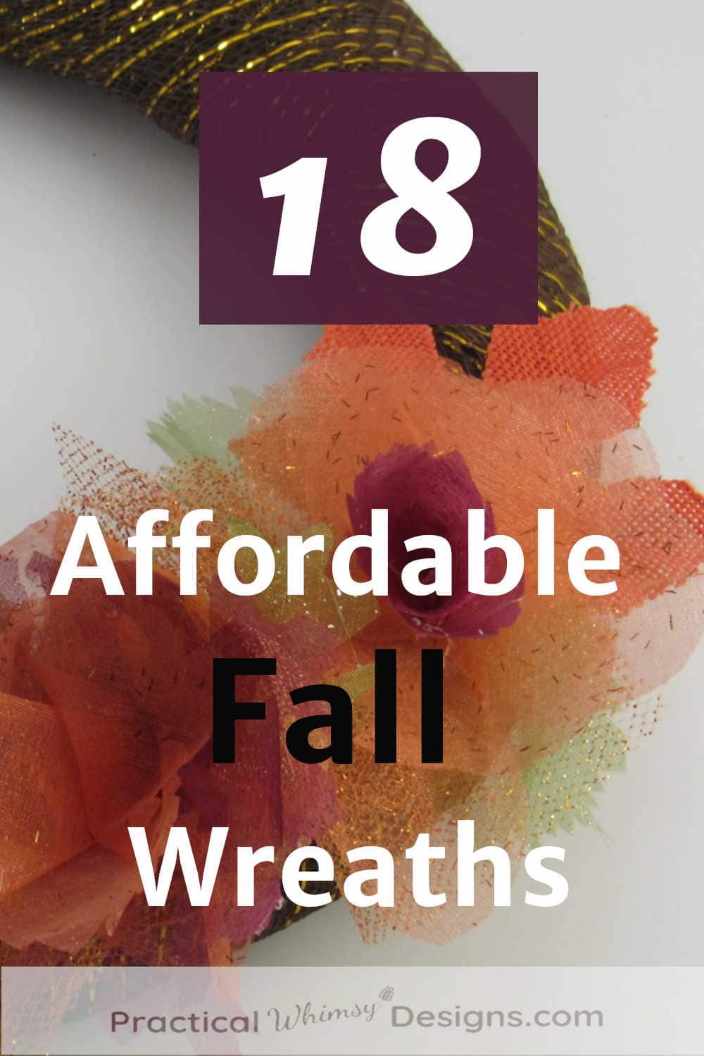 Affordable fall wreath with fabric flowers