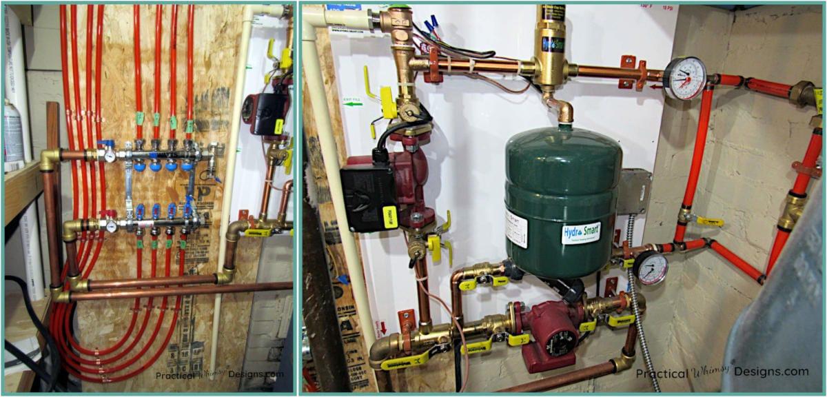Boiler floor heat system