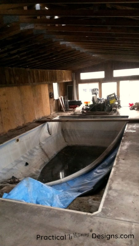 Broken indoor pool of our fixer upper
