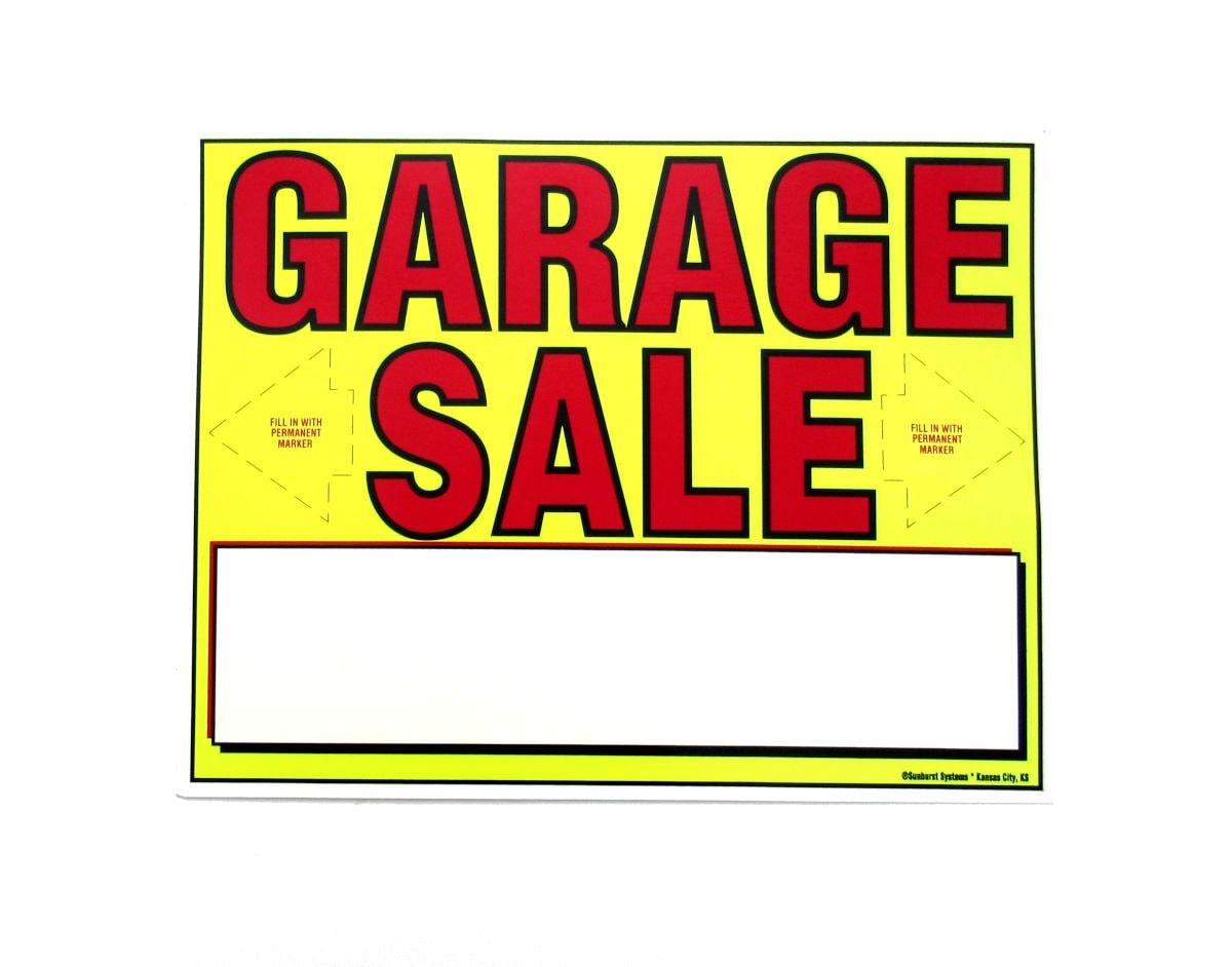 Garage sale sign