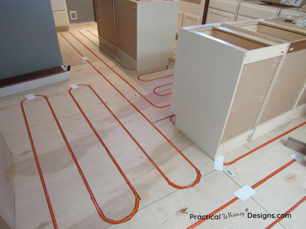 Boiler in floor heat run in kitchen