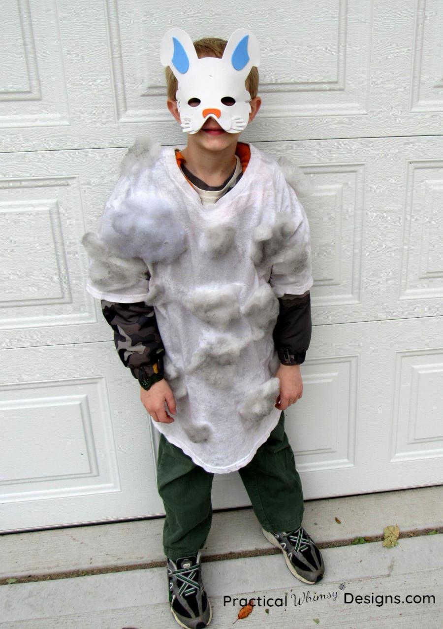 Dust bunny costume standing