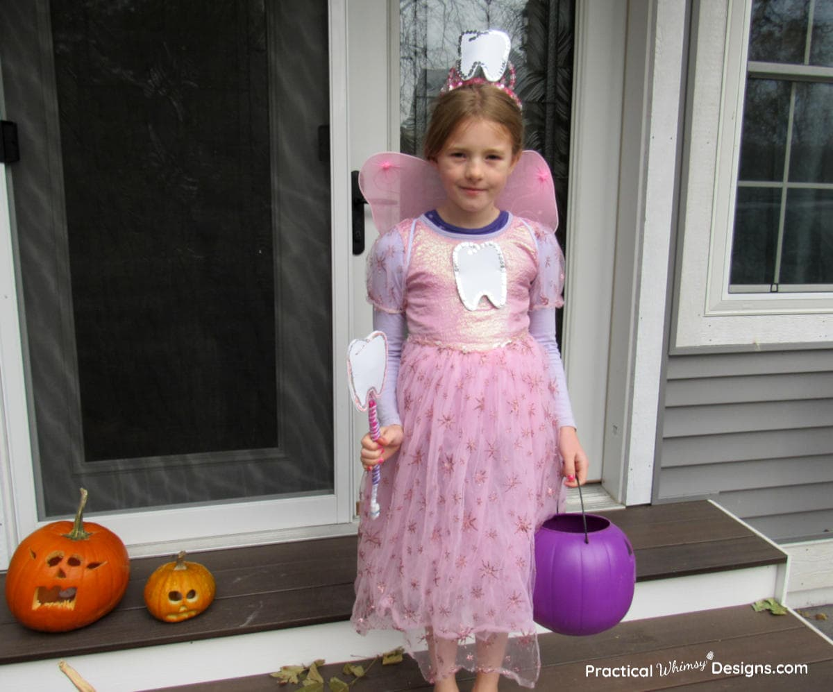 Tooth fairy costume with pumpkins
