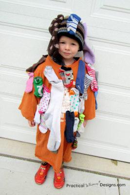 Sock monster costume