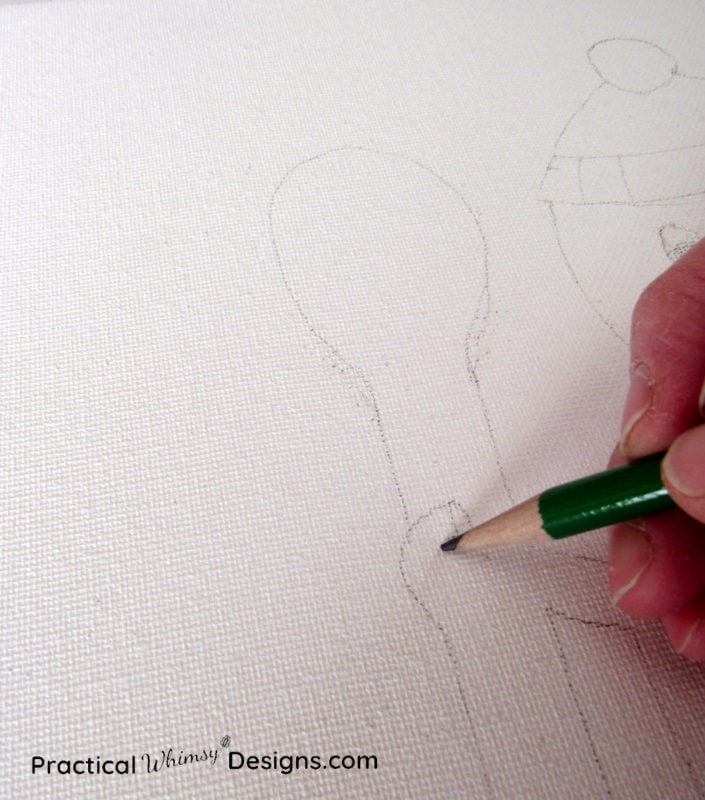Adding pencil detail to canvas