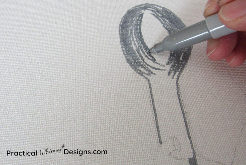 Using sharpies to color lighted canvas pictures