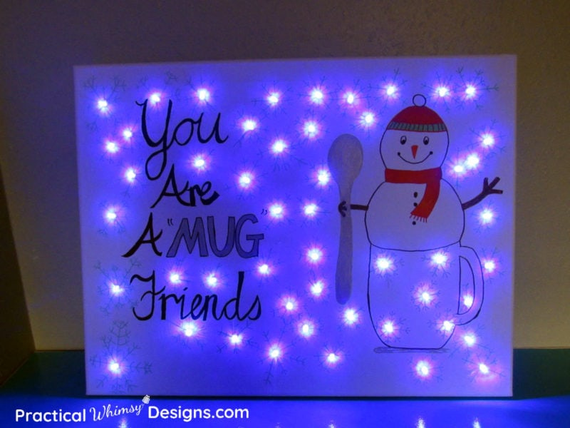 Lighted canvas pictures