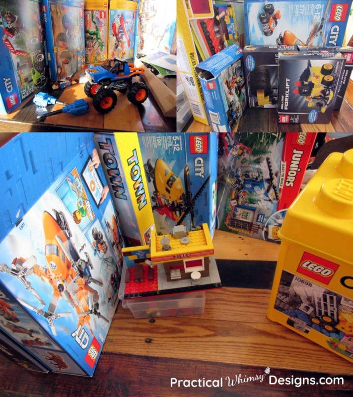 Boxes of legos