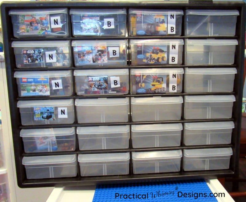 Tool storage for lego kit organization