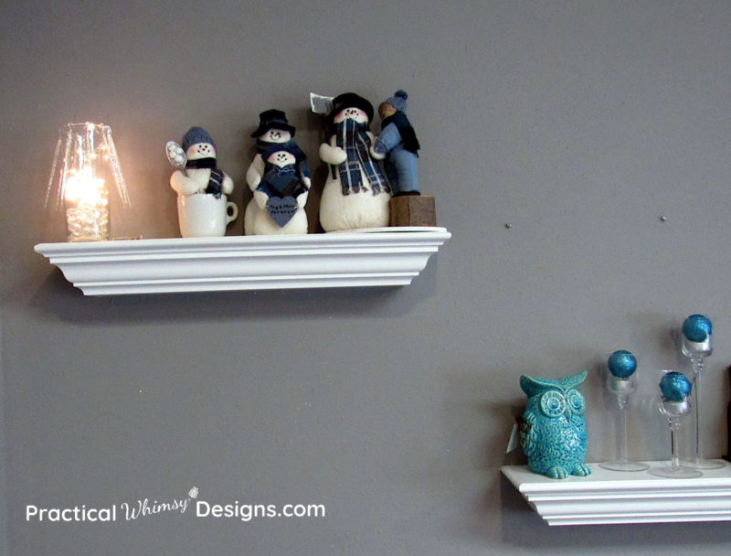 Snowmen, owl, and winter decorations
