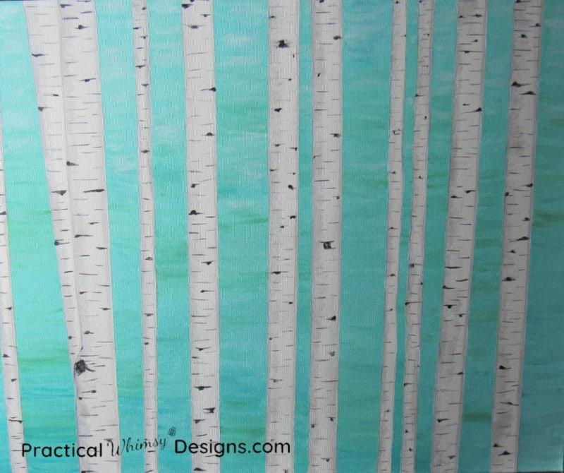 Birch tree painting