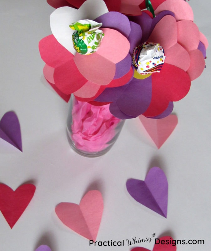 Bouquet of valentines card