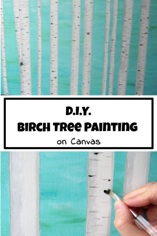 Diy Birch Tree Painting On Canvas Practical Whimsy Designs