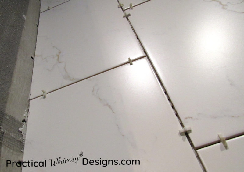 Tile spacers in between tile