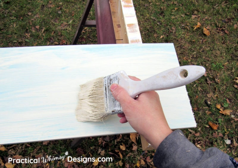 Painting board to distress painted furniture