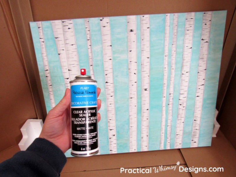 Using acrylic paint sealer to seal canvas