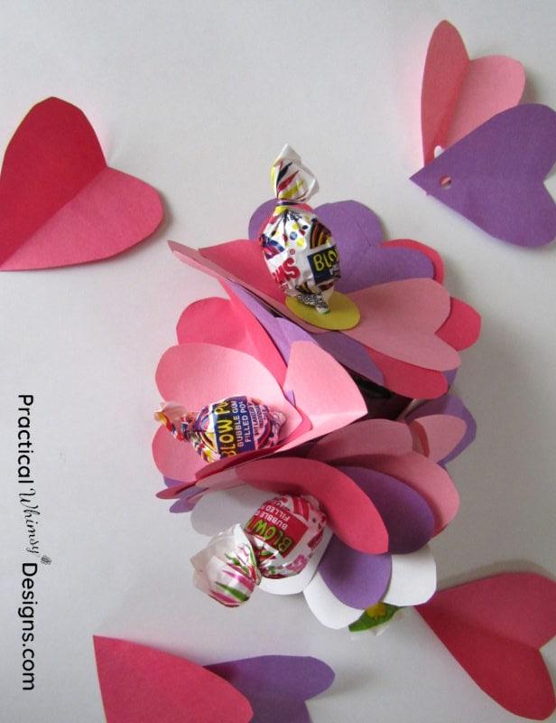 Valentines card flowers