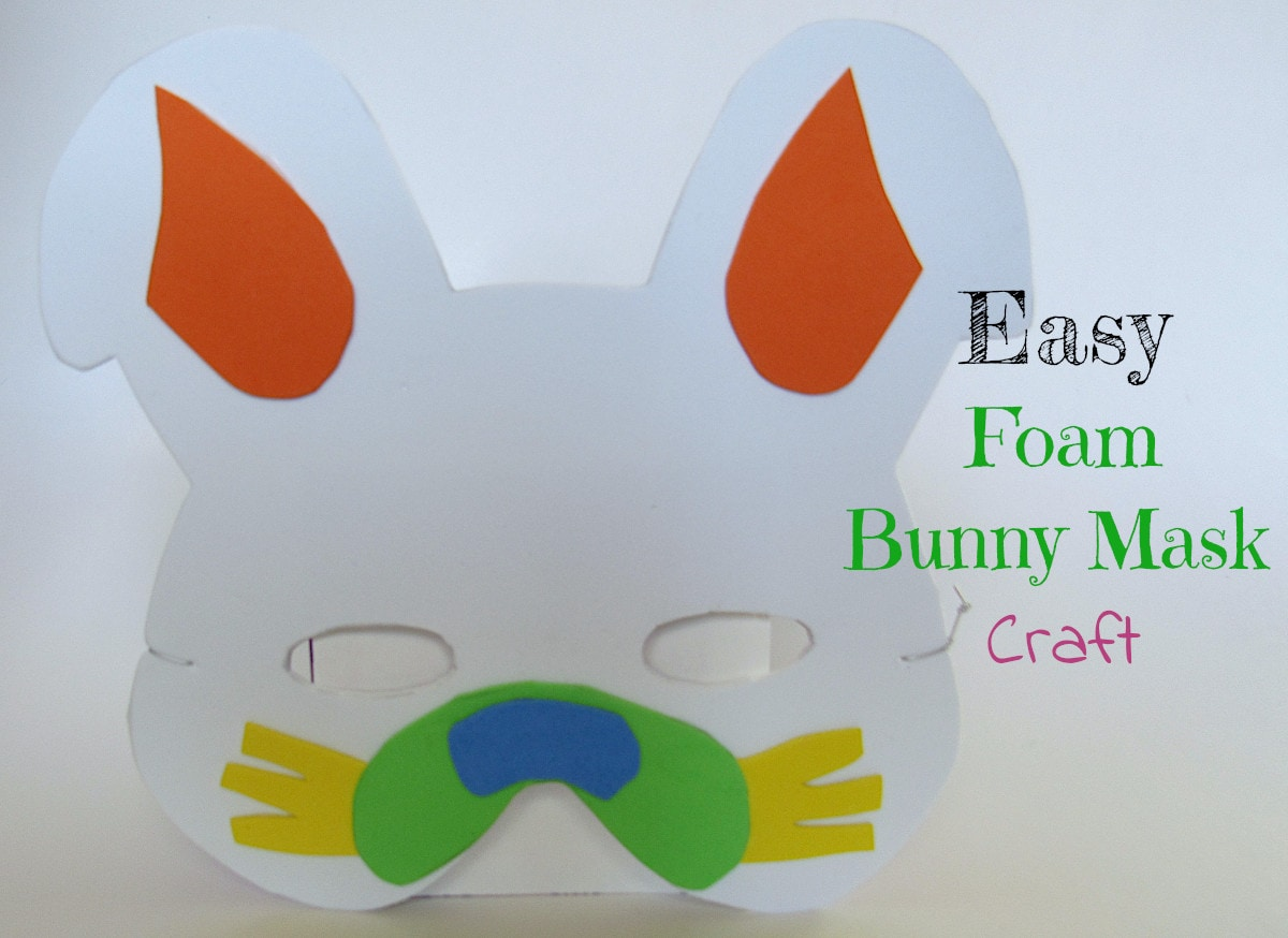 Foam Bunny Mask Craft