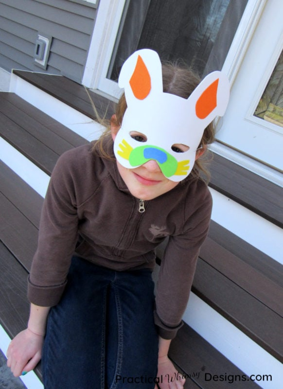 Easy foam bunny mask craft
