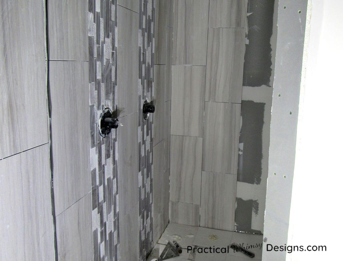 Tiling master bathroom shower