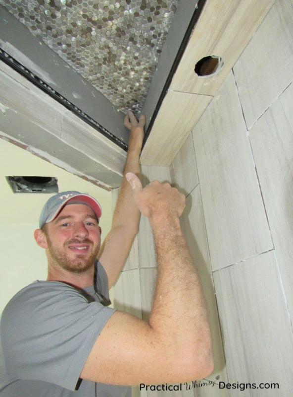 Installing tile in Master Bathroom ORC week 4