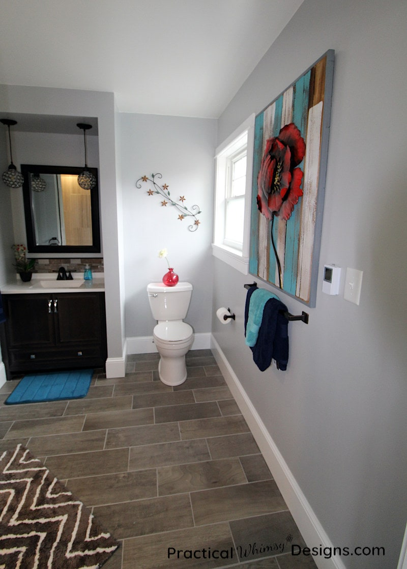 Master Bathroom Reveal Sink and Toilet