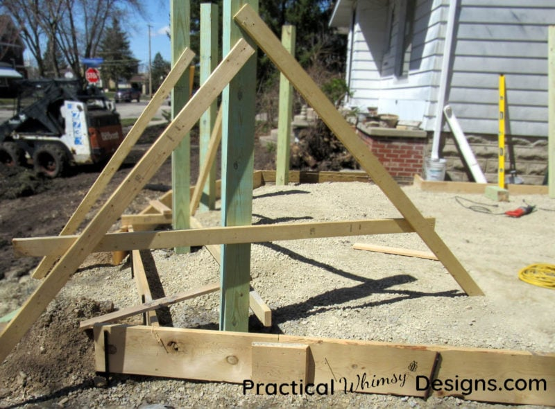 How to build an A-Brace to hold a pole