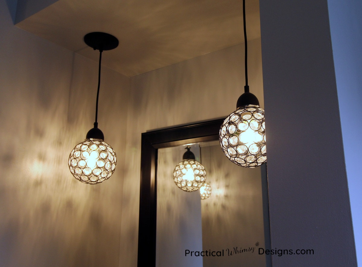 Master Bathroom Reveal Lighting