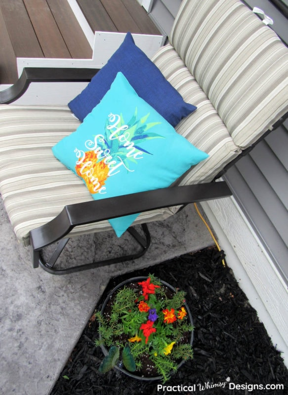 Patio furniture with cushion