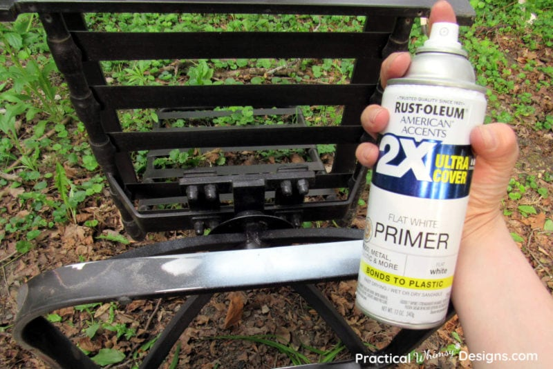 Priming the patio chair