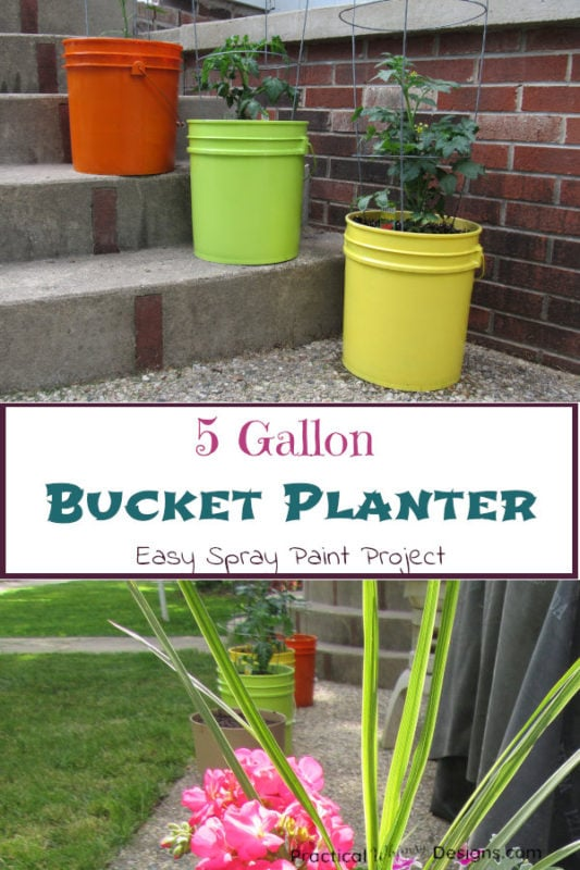 5 Gallon Bucket Planter Easy Spray Paint Project