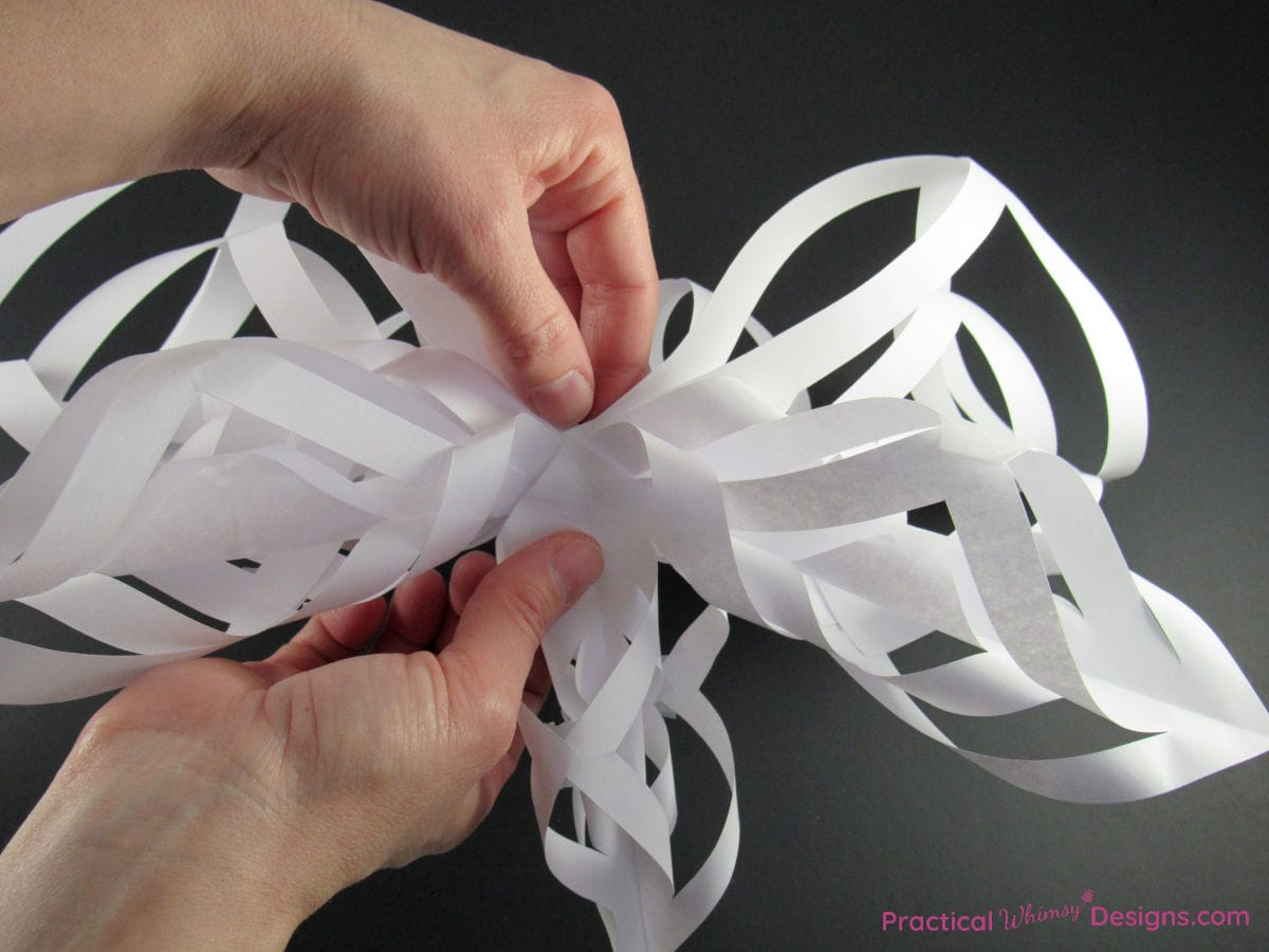 Adding final points to the twisted paper star