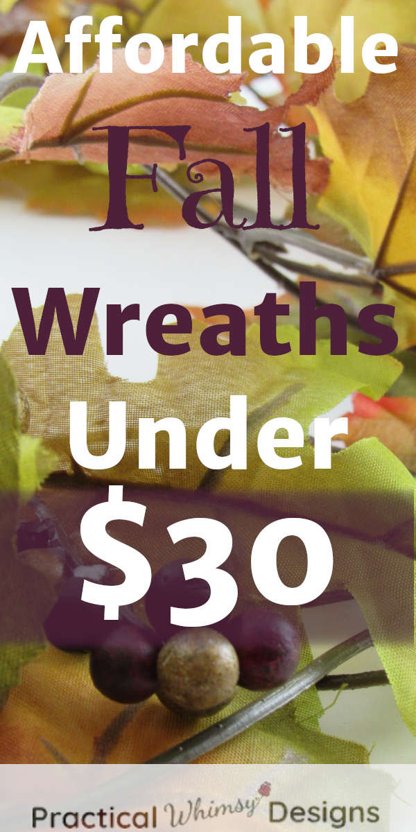 Affordable fall wreaths under $30