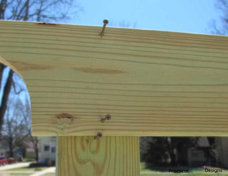 Attaching beam to post with screws