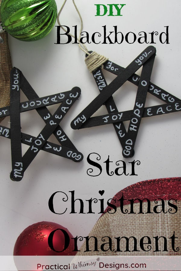 DIY Blackboard Star Christmas Ornament