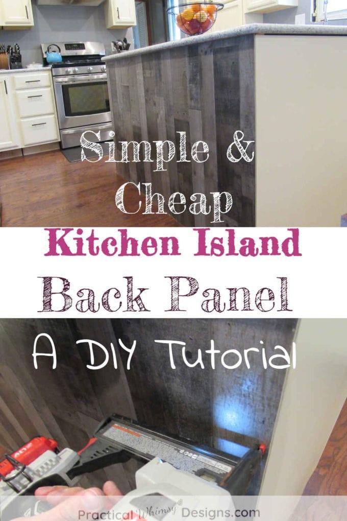 Simple & Cheap Kitchen Island Back panel: a DIY tutorial