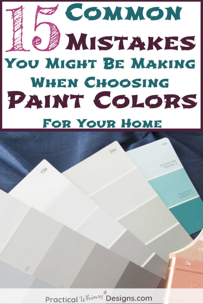 15 Common Mistakes You Might Be Making When Choosing Paint Colors for Your Home, Paint swatches on bed