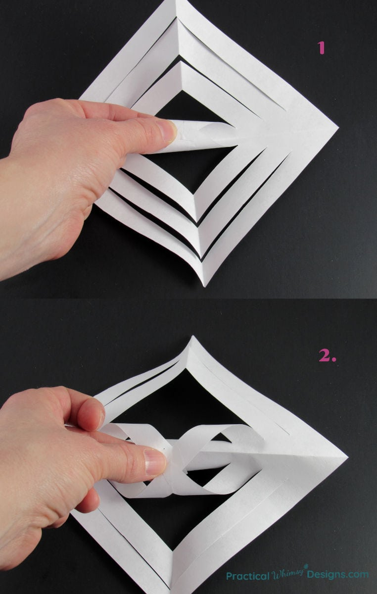 Creating a paper twist