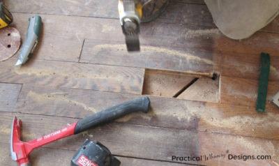 Patching hardwood floor