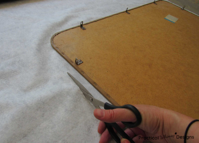 Cutting vinyl for folding table top