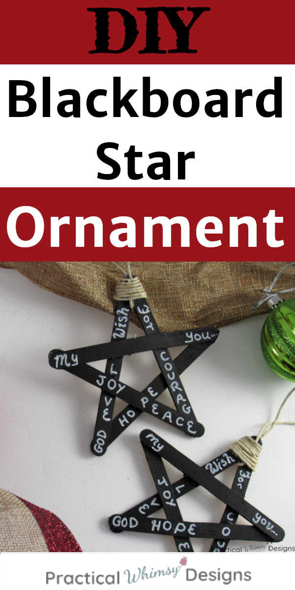 DIY Blackboard Star Ornaments