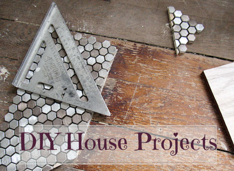 DIY House Projects: tile and ruler on wood floor