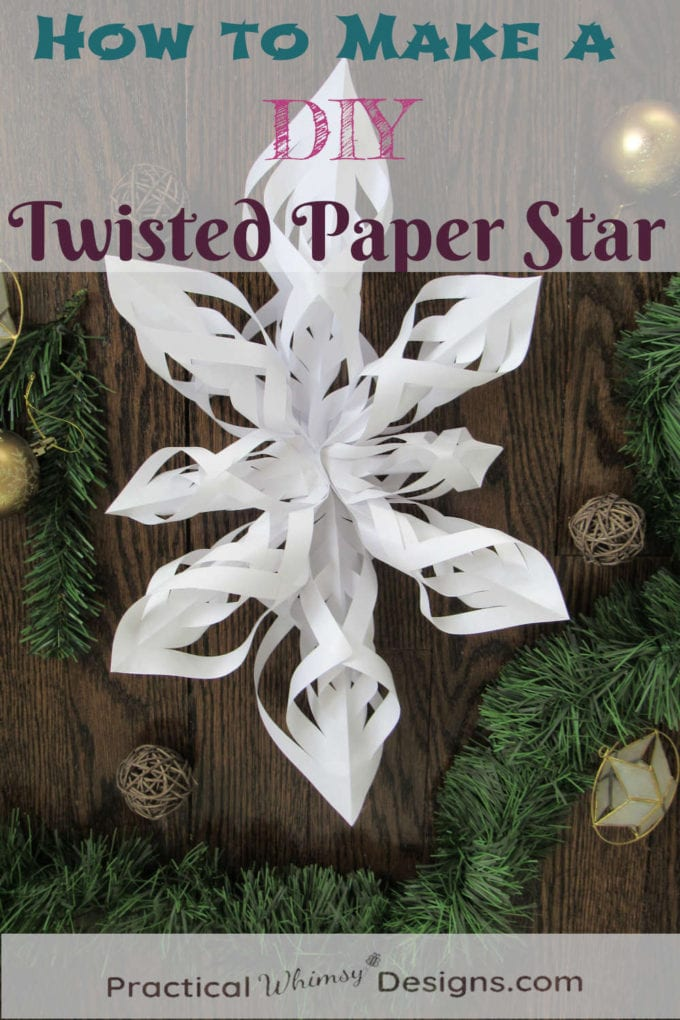 How to make a DIY Twisted Paper Star