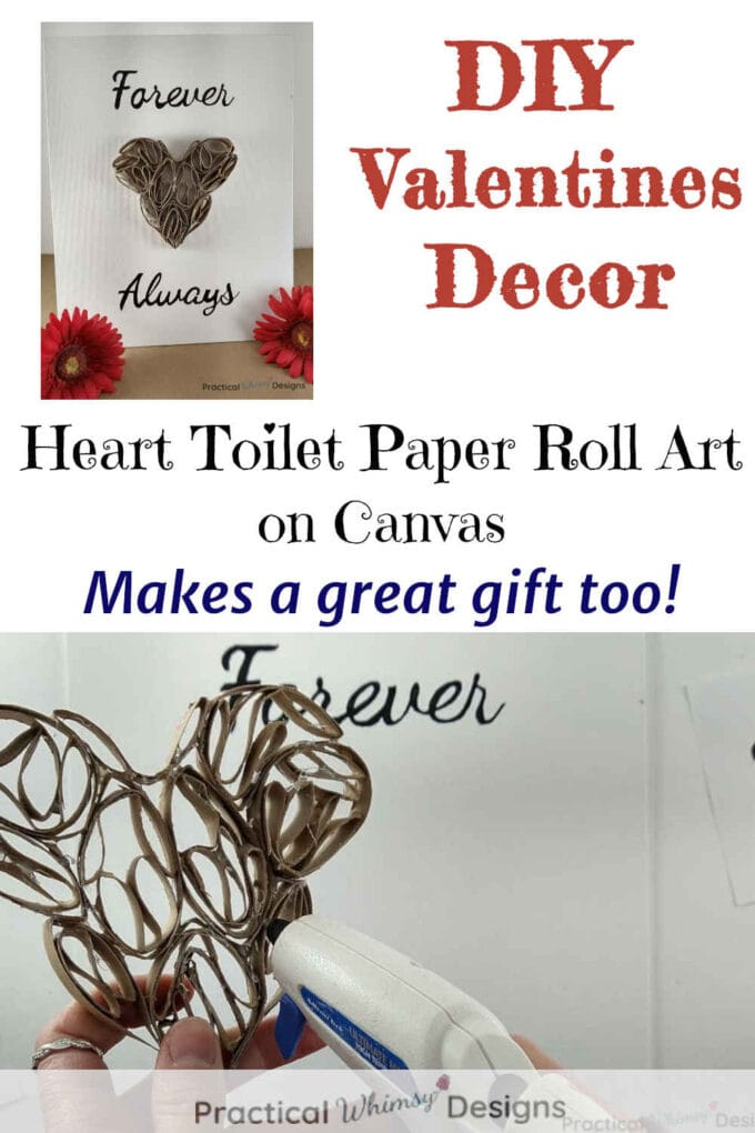 Heart Toilet Paper Roll Art Valentines Decor