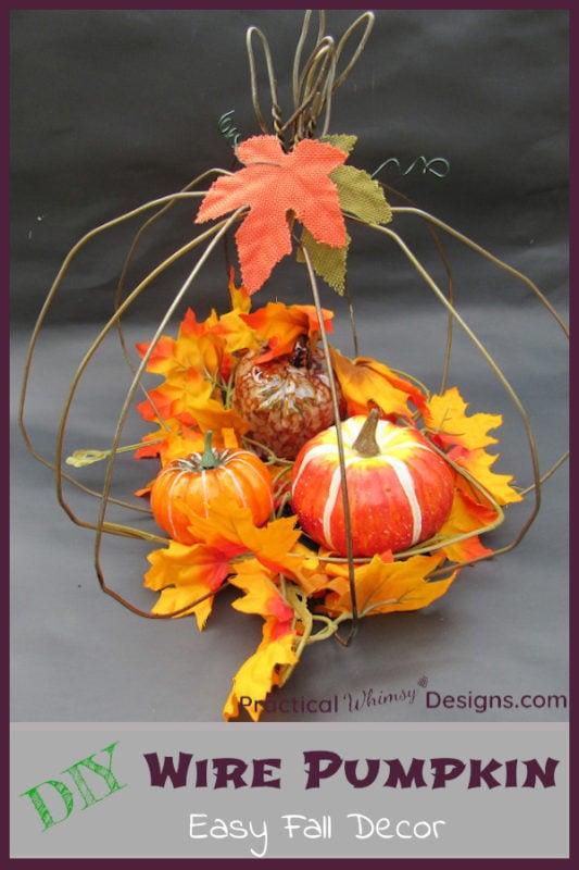 DIY Wire Pumpkin Easy Fall Decor