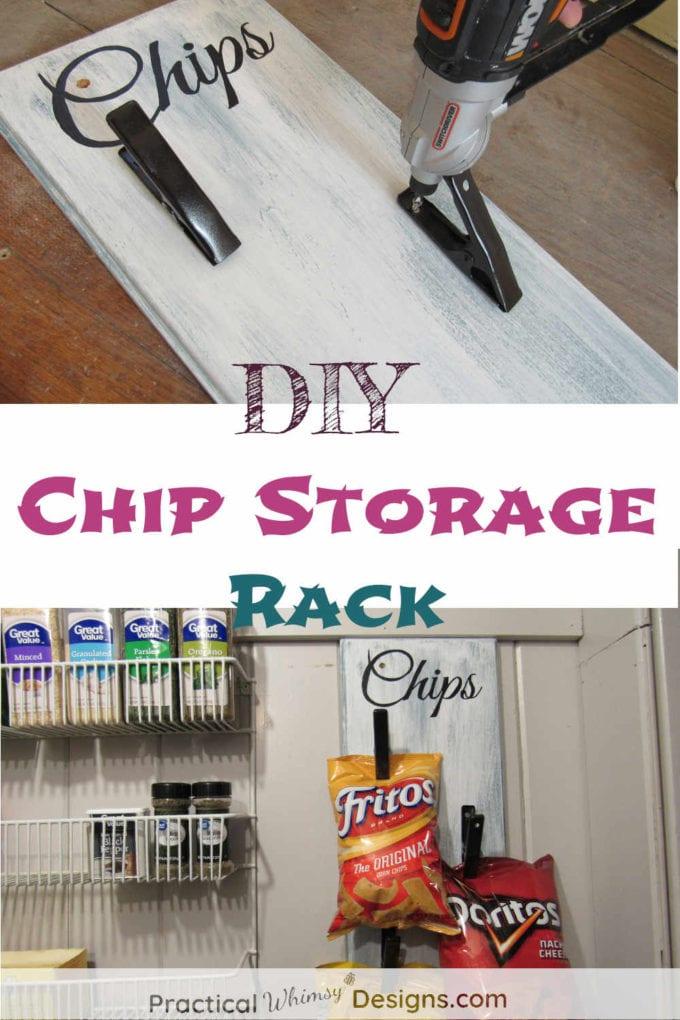 DIY Chip Storage Rack
