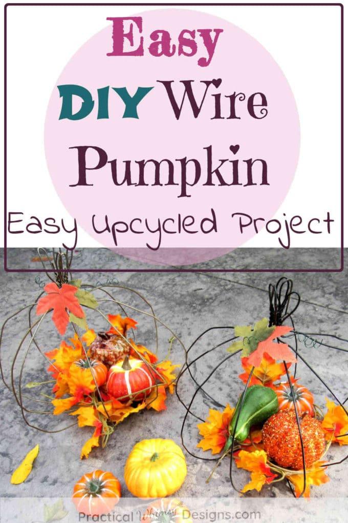 Easy DIY wire pumpkins