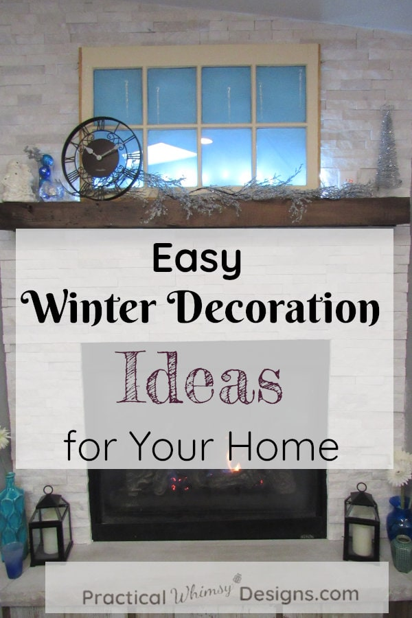 Easy Winter decorations ideas to make with your Christmas decor.
